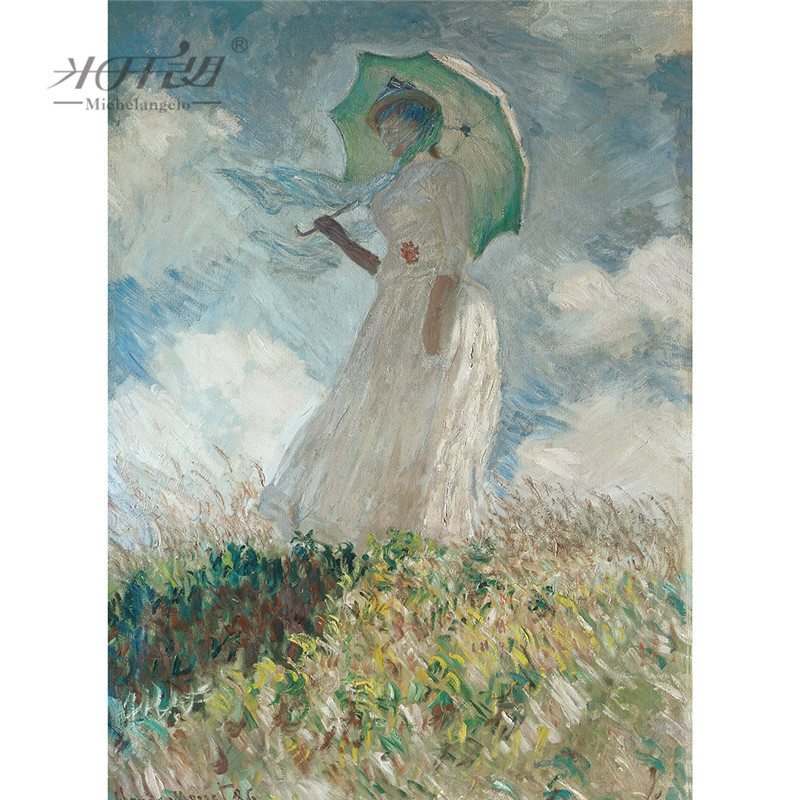 Michelangelo Wooden <font><b>Jigsaw</b></font> <font><b>Puzzles</b></font> 500 1000 <font><b>1500</b></font> 2000 <font><b>Pieces</b></font> Claude Monet Woman with Umbrella Painting Art Educational Toy Decor image