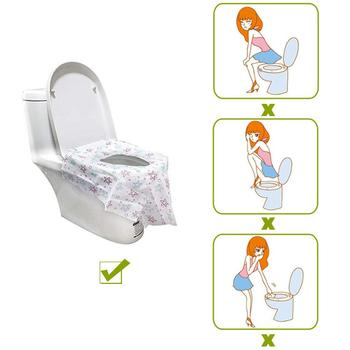 20PCS Disposable Toilet Seat Maternal Child Toilet Seat Toilet Training Seat Cover Waterproof Non-Slip Pregnant Women Toilet Mat 2