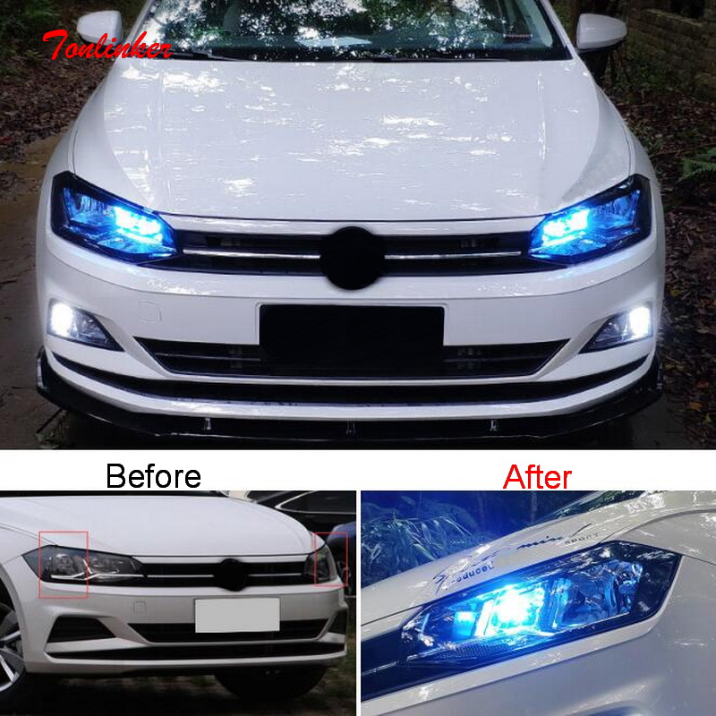 Tonlinker Interior Head/Read Light Replacement LED Lamp For Volkswagen POLO 2019 Car Styling 2/3 PCS LED Atmosphere Lamp