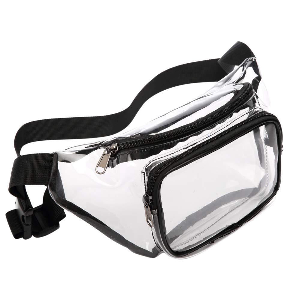Fanny Pack Transparent Clear Waist Bag PVC Waterproof Bag Belt Bag Waist Pack Bolsa Feminina Hip Bag Belt Pouch