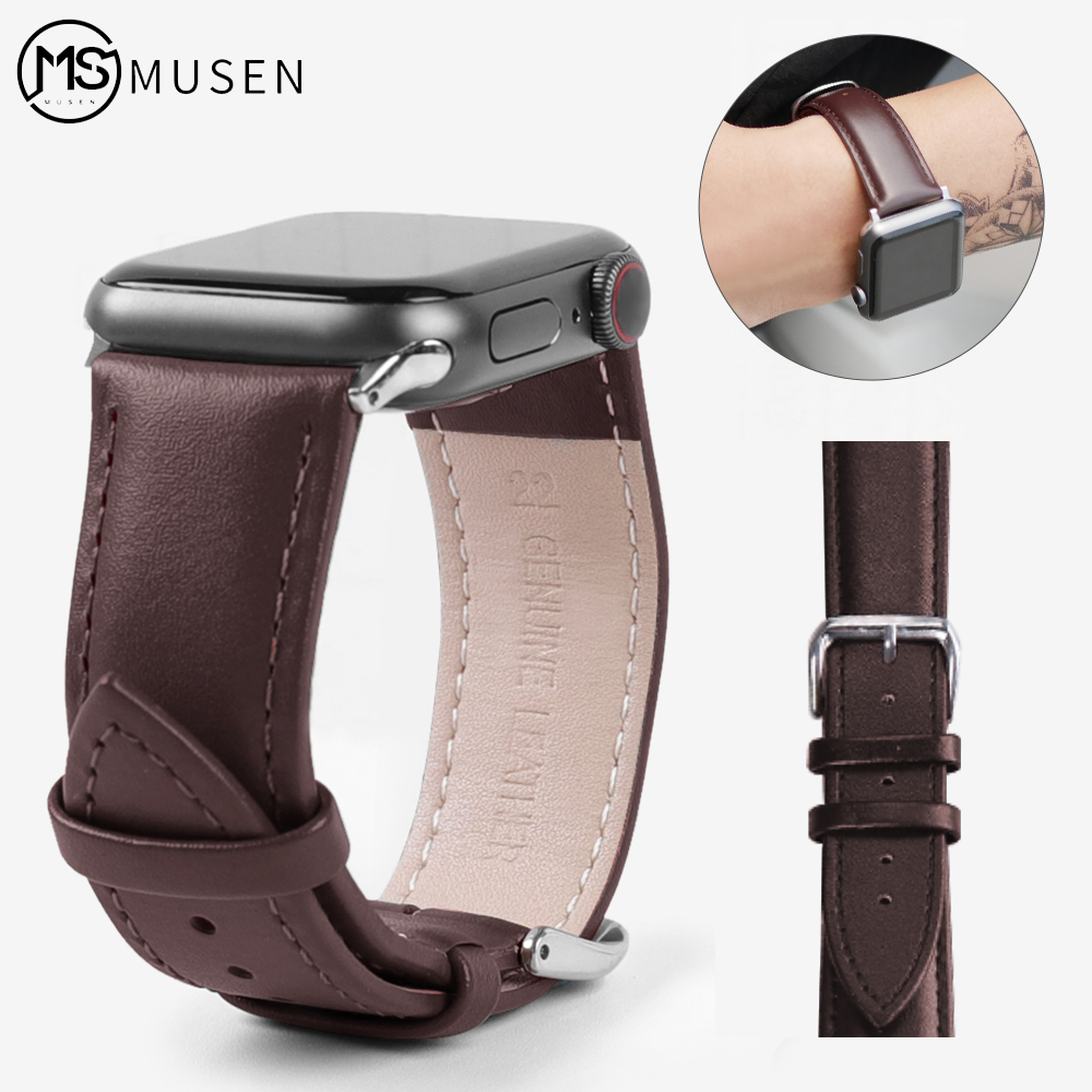 Strap For Apple Watch Band Genuine Leather Loop 42mm 38mm Watchband For Iwatch Strap 44mm 40mm 5/4/3/2/1 Bracelet Accessories