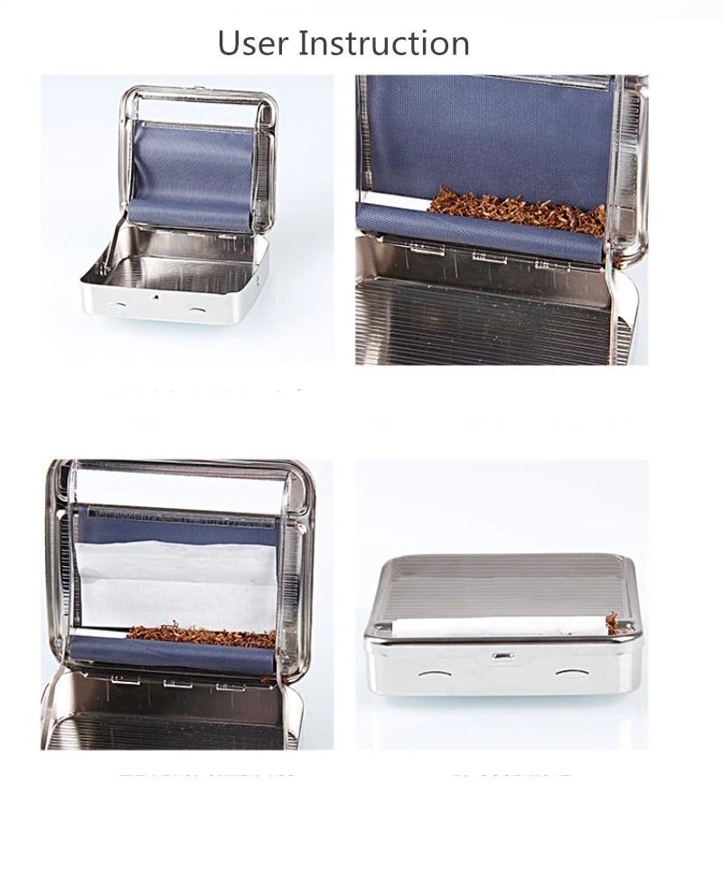 New 70mm/78mm Metal Automatic Cigarette Tobacco Smoking Rolling Machine Roller Box Cigarette Accessories Tobacco Container Smoke 6