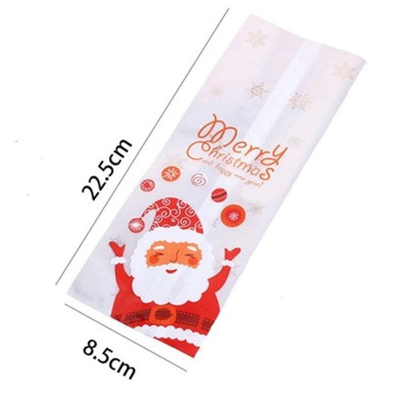 25/ 50 шт в наборе, милые Санта Клаус полиэтиленовый пакет, свадьбы, Рождества, Печенье Подарочная упаковка для конфет сумки вечерние свадебны...