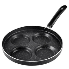 Mini Nonstick Fried Pan Four-hole Portable for Pancakes Brea