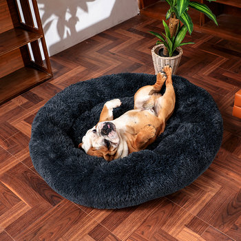 Thick cutton round dog bed super soft long plush pet cat mat for dogs nest Cushion Bed winter warm  pets sofa Dog Kennel