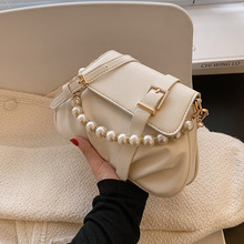 High Quality Ladies Shoulder Bag 2021 New Female Bag Trendy Fashion Messenger Bag Korean Pearl Portable Small Square Bag