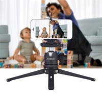 Andoer Table Desktop Mini Travel Tripod with Ball Head Quick Release Plate for Canon Nikon Sony DSLR for GoPro Hero