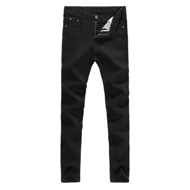 2019 New Free Shipping Fashion Black Color Slim Straight Leisure & Casual Brand Jeans Men,Hot Sale Denim Cotton Men Jeans 28-38