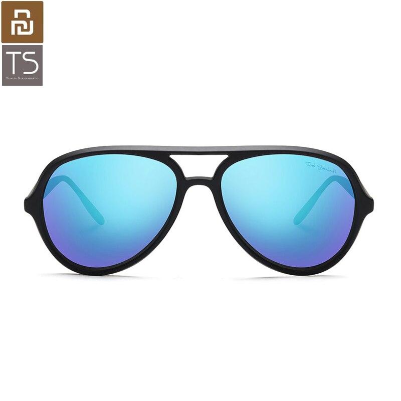 Youpin Turok Steinhardt TS солнечные очки-авиаторы TAC поляризованные линзы цельный носовой кронштейн TR90 оправа голубые линзы