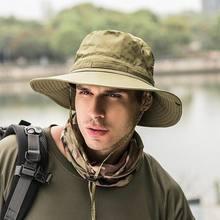 Chapeau de soleil unisexe pour hommes et femmes, à large bord, à la mode, pour Camping, chasse, pêche, randonnée, Sport de plein air, décontracté