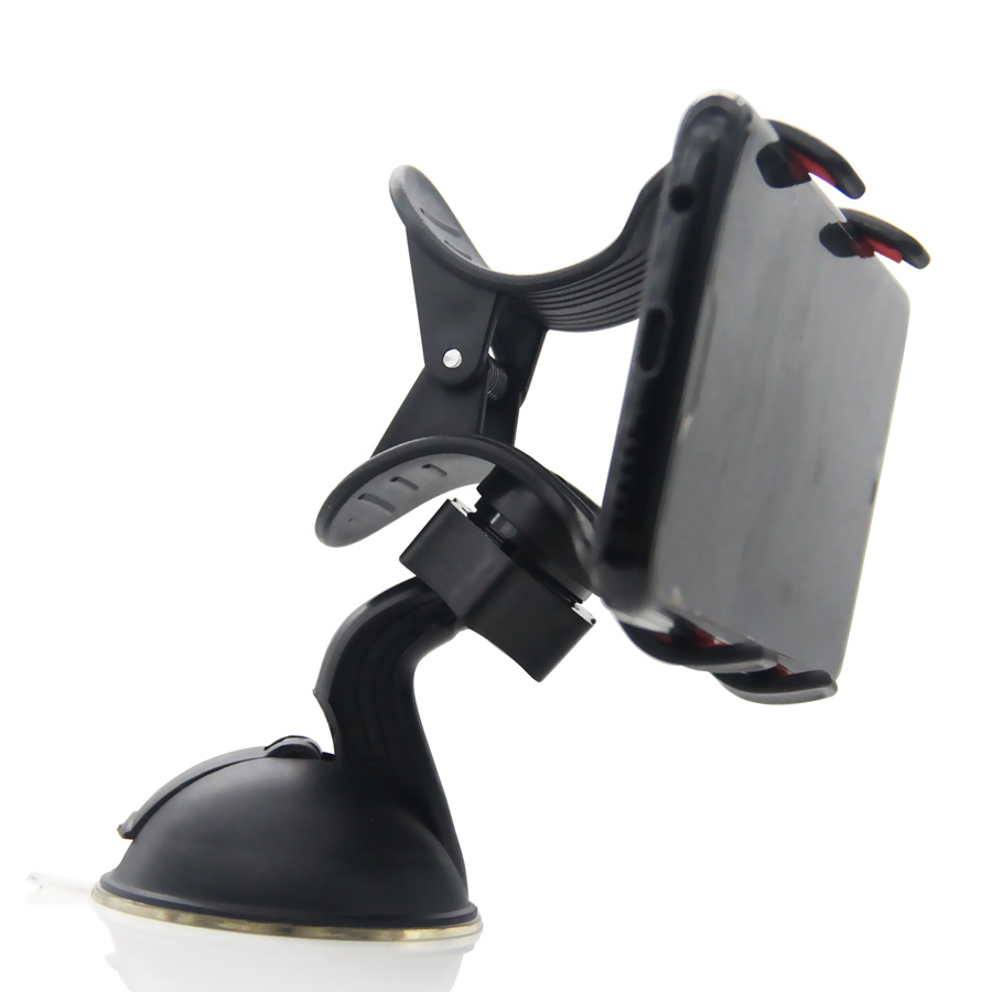 Car Phone Holder 360 Rotation Mobile Phone Clip Holder Stand Bracket Adsorbed On Glass Clip Holder For IPhone Samsung Xiaomi