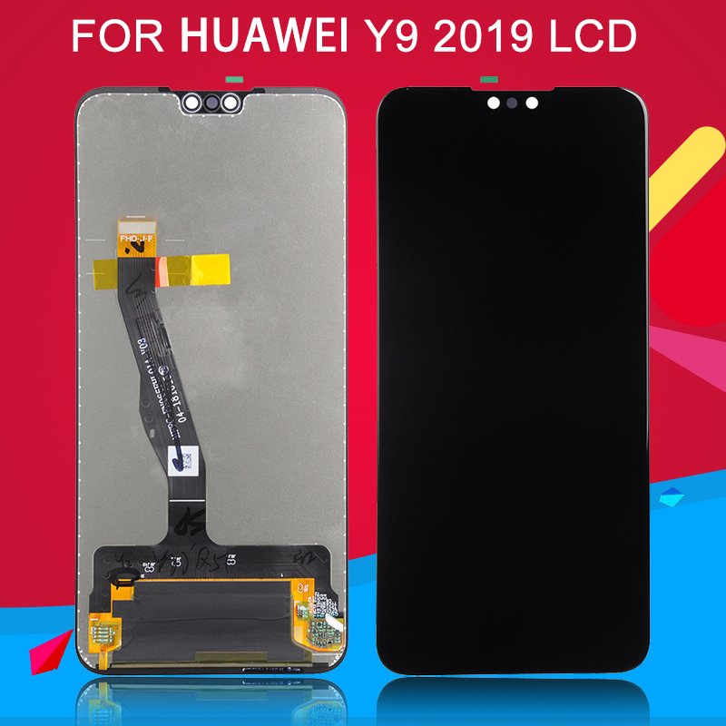 Dinamico Free Shipping For <font><b>Huawei</b></font> <font><b>Y9</b></font> <font><b>2019</b></font> <font><b>Lcd</b></font> Touch Screen BLA L09 L29 <font><b>Lcd</b></font> Digitizer Assembly Replacement Enjoy 9 Plus Display image