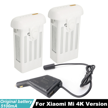 Original Mi 4K Drone Battery +Charger with USB Port Charging Smartphone Tablet for xiaomi Drone 4K Quadcopter Camera Accessories