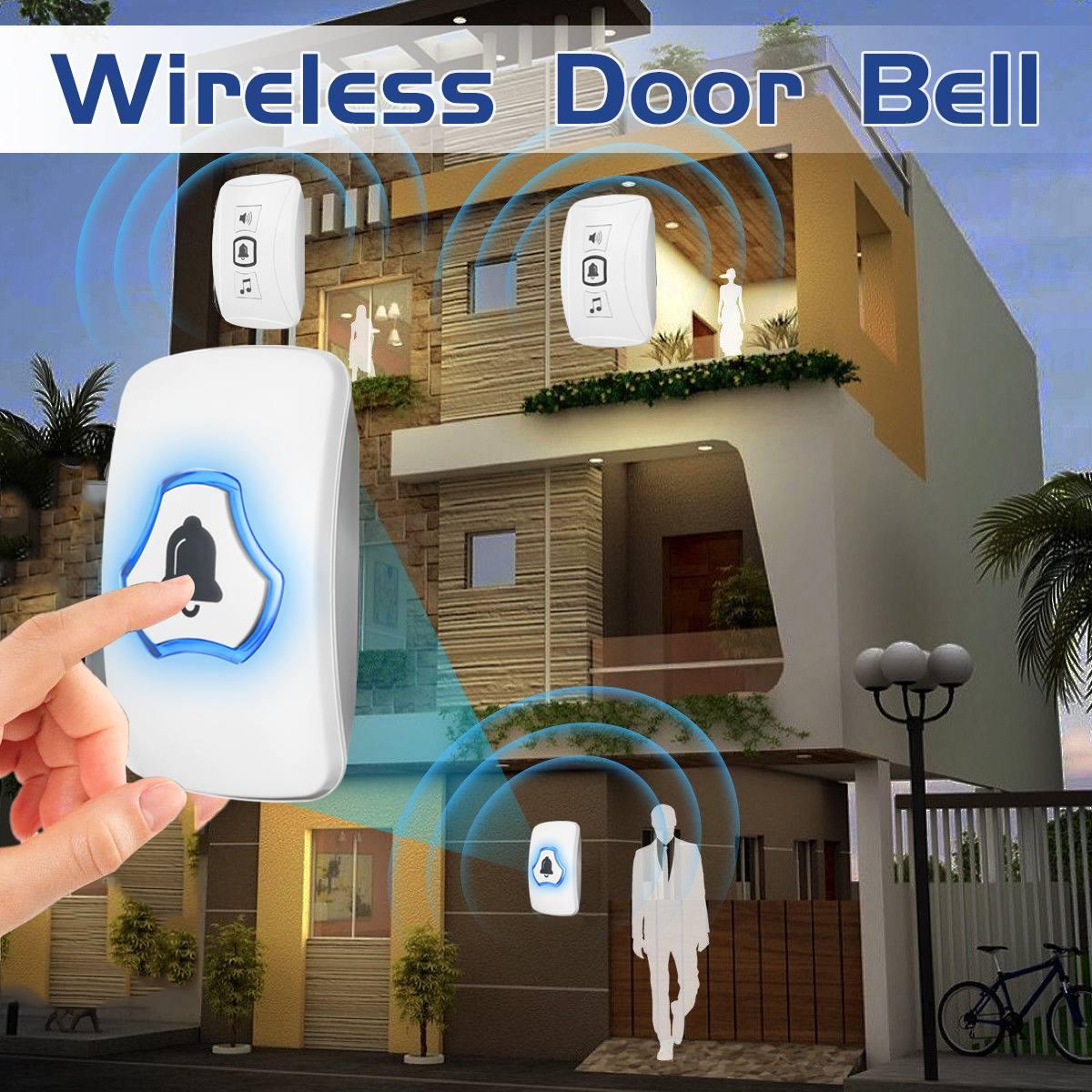 150 Meters Range Wireless Doorbell 32 Chimes 4 Volume Levels Music Door Bell