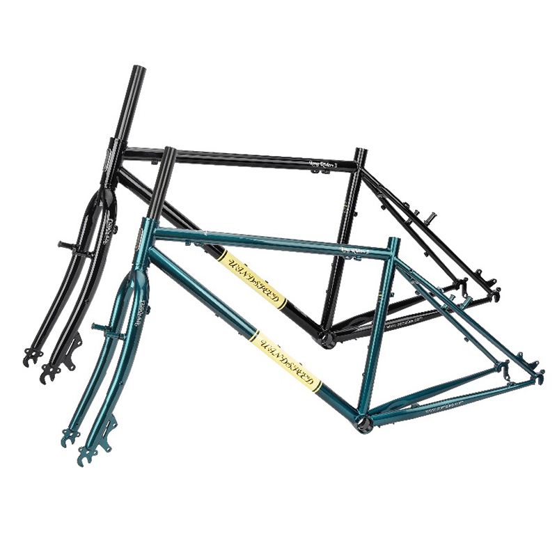 Bike Frameset Cyclocross-Frame Cycling Steel 4130 Windspeed Cr-Mo Ttouring Travel And title=