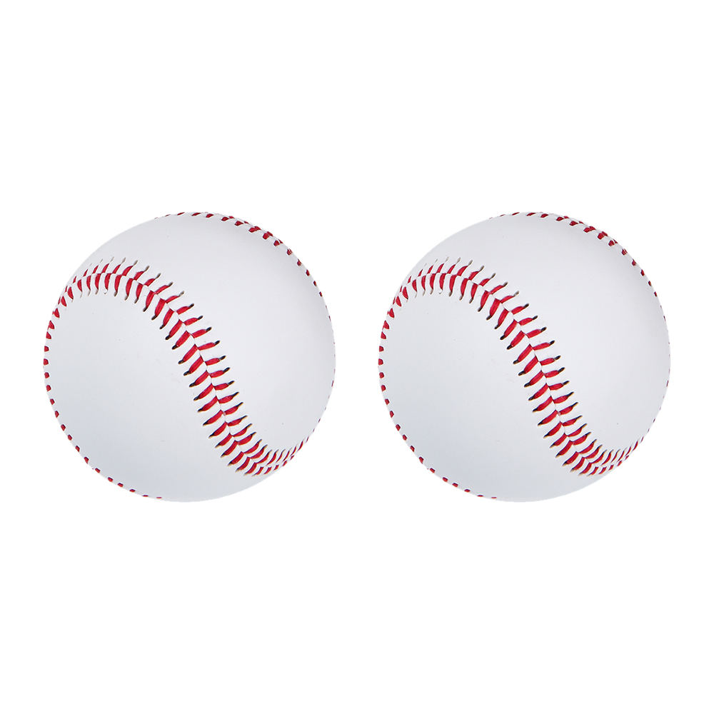 2pcs 9 Inch Universal Handmade Baseballs PU Hard And Soft Baseball Balls Softball Ball Training Exercise Baseball Balls