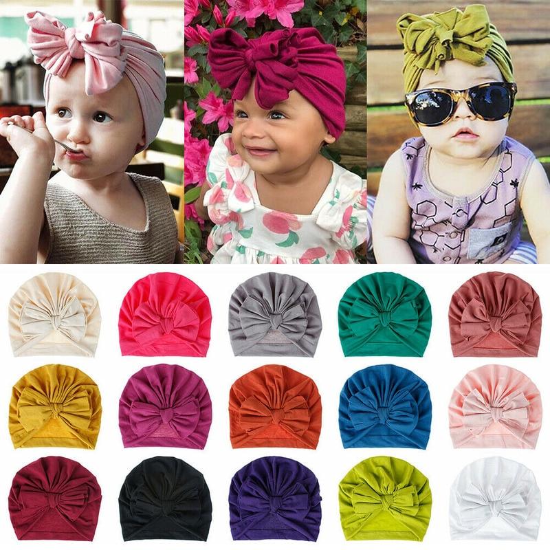 Bebê infantil menina gorro chapéu hairband arco nó turbante boné recém-nascido cabeça envolve crianças menino meninas chapéu nó bandana para 0 ~ 3 anos de idade