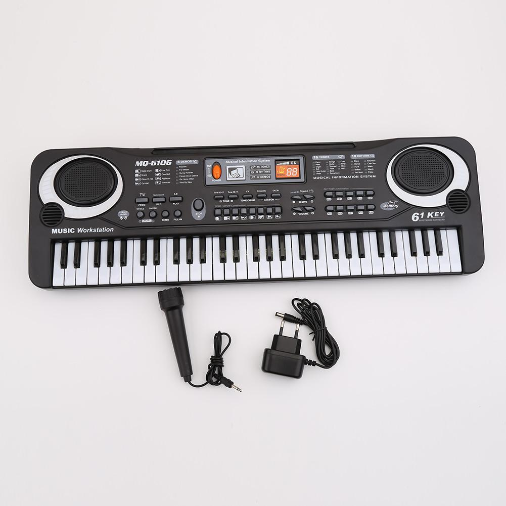 61 Keys Digital Music Electronic Keyboard Key Board Electric Piano Children Gift Eu Plug Early Educational Tool For Kids