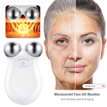 Microcurrent Face Lift Machine Facial Massager For Face Lifting Anti Aging Wrinkle Skin Tightening Micro Current Roller Device