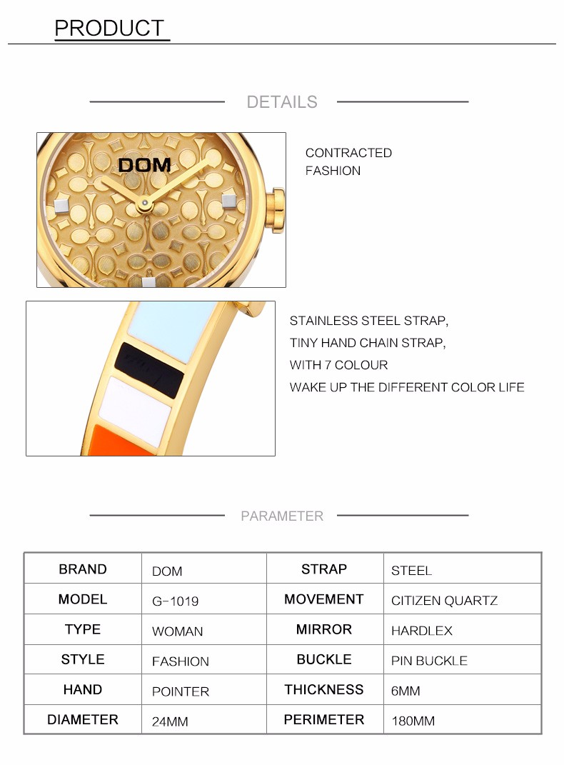 relógio de pulso moda casual ouro aço