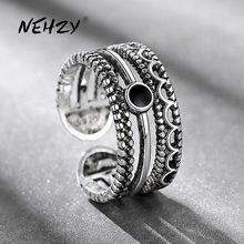 NEHZY 925 srebrny pierścień moda kobieta biżuteria retro prosta Thai srebrny kryształ regulowany oryginalny gorąca sprzedaż nowy pierścień
