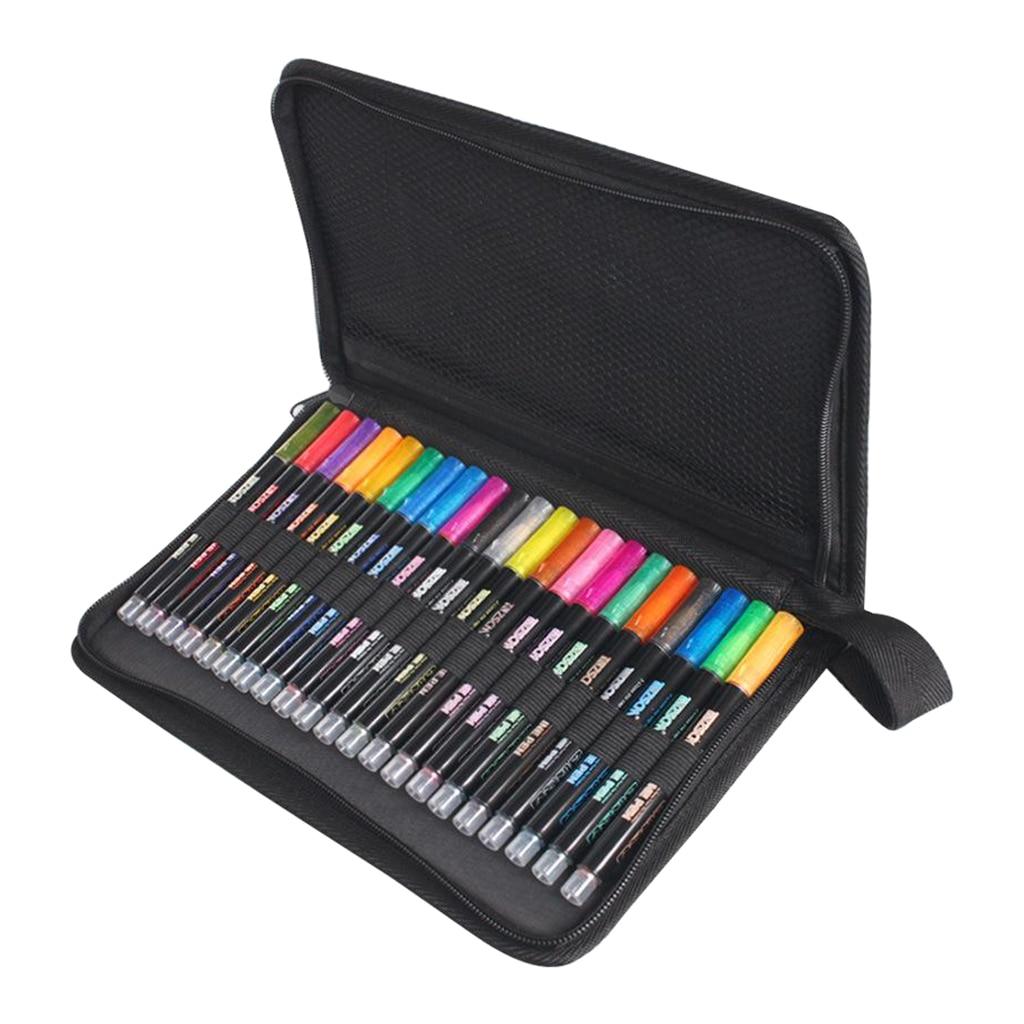 Купить двухрядные контурные ручки 21 цвет контурные металлические маркеры