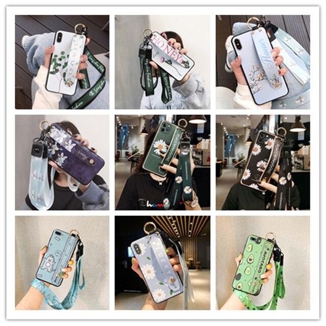 Pasek na rękę Case dla Huawei Y9S P inteligentny 2019 Y9 Prime Mate 20 Lite Honor 10 Lite 8X 9X 9 P30 P20 Pro Nova 3 3i Y7 2018 zobacz Capa