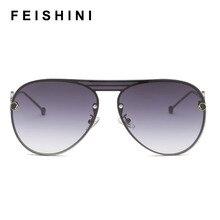 Feishini 2020 Oversized Pilot Sunglasses Women Luxury Brand