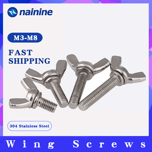 [M3 M4 M5 M6 M8 M10] Hand Tighten Screws Butterfly Bolt Wing Thumb Screw Claw A2-70 Stainless Steel