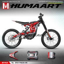 Envoltório completo do vinil das etiquetas de humaart enduro para a bicicleta elétrica da abelha x/s da luz de sur ron, customizável