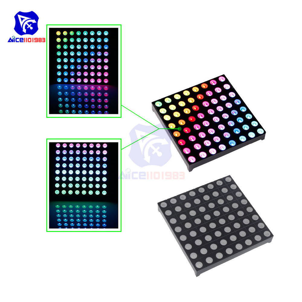 Diymore 8x8 RGB LED Matrix Common Anode 5mm Dia. LED Board