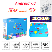 Brasil tv box H96mini H6 Android 9.0 boxes 6K HD H2.65 Bluetooth Google Media Player smart TV set top support iptv spain