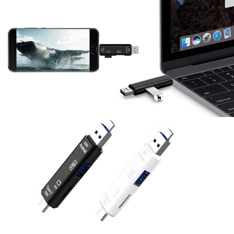 New Micro USB 3.1 Type C USB TF Card Reader OTG Hub Adapter Splitter For Samsung Xiaomi MacBook PC Etc.