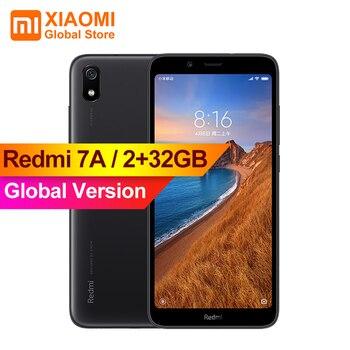 Перейти на Алиэкспресс и купить Глобальная версия смартфона Xiaomi Redmi 7A 7 A, 2 Гб, 32 ГБ, Восьмиядерный, 4000 мАч, длительный срок службы батареи, AI Face Unlock, 5,45 дюйммобильный телефон