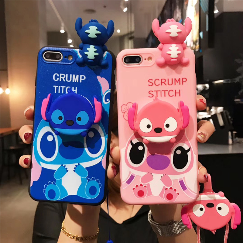 <font><b>Cute</b></font> Rubber pink stitch soft <font><b>Case</b></font> For <font><b>Samsung</b></font> <font><b>Galaxy</b></font> A50 A30 A40 A30S A10 <font><b>A70</b></font> A750 A9 2018 S8 S9 S10e S20 Note 10 Lanyard <font><b>case</b></font> image