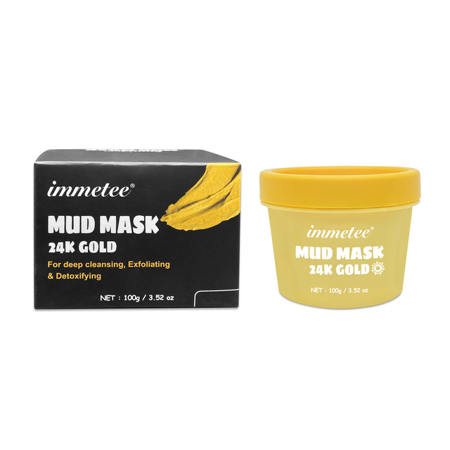 1pcs 100g 24K Gold Mud Mask Deep Cleansing Mask Shrink Pore Removal Blackhead Moisturizing Peel Mask Facial Skin Care Products 3