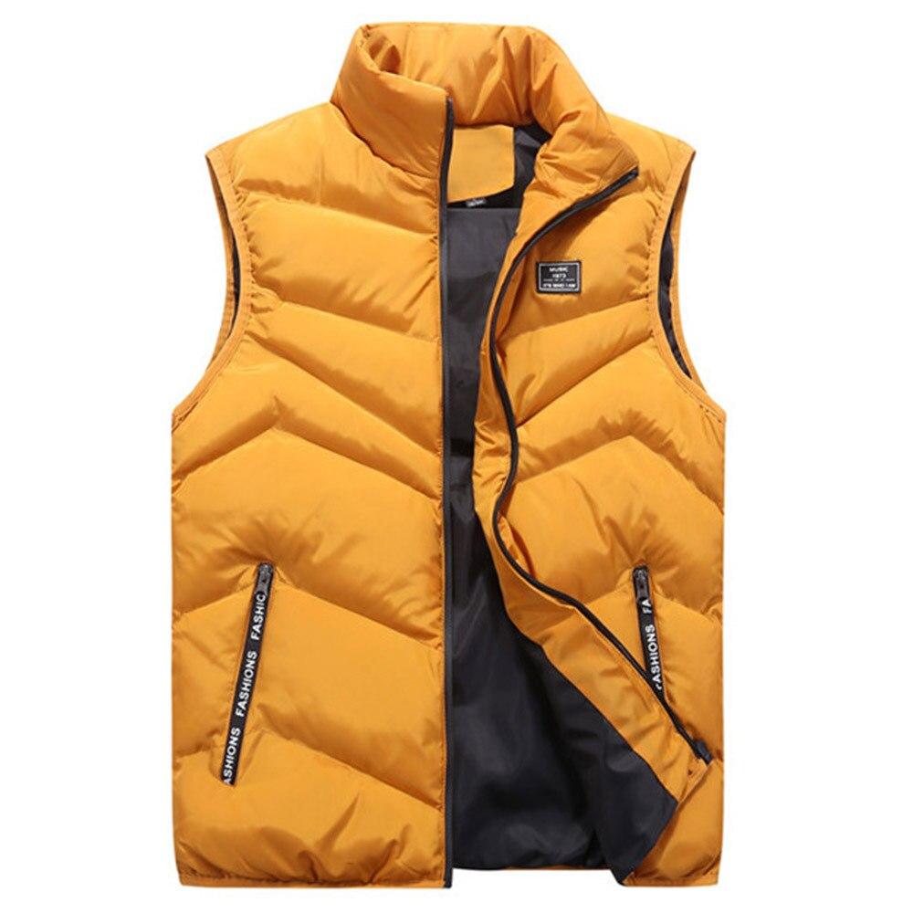 Mens Jacket Sleeveless Vest Winter Fashion Casual Coats Male Cotton Thick Clothing Warm Men's Vest Men Thicken Waistcoats 8XL