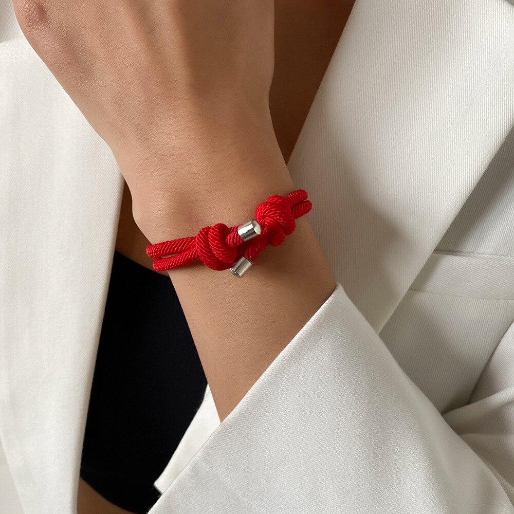 Красные браслеты-ленты для защиты удачи амулет для успеха процветания ручной работы веревочные браслеты на удачу очаровательные браслеты подарки