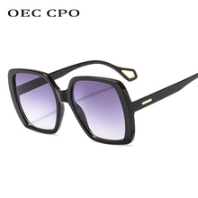 OEC CPO Fashion 7 Colors Women Square Sunglasses Brand Designer Vintage Gradient Lens Eyeglasses UV400 O238