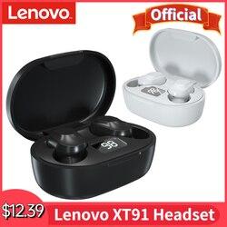 Original Lenovo XT91 TWS Earphone Wireless Bluetooth 5.0 Headphones AI Control Gaming Headset Stereo Bass w/ Mic Noise Reduction