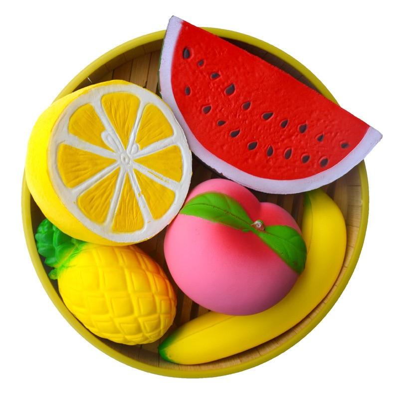 Slow Rising Giant Squishy Fruit Squishy Banana Watermelon  Peach Kawai Toy Squishy Squish Toys For Children