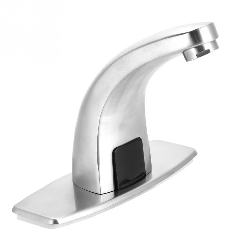 Electronic Automatic Sensor Touchless Sink Hands-Free Hot /& Cold Faucet Motion Activated
