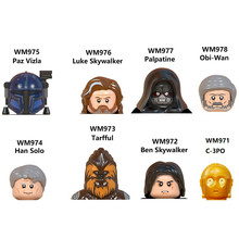 Ben skywalker C-3PO blocos mini figura de ação brinquedos paz vizla luke palpatine obi wan han solo tarfful