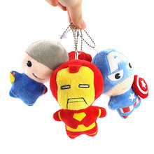 Avengers Pluche Speelgoed Iron Man Spiderman Thor Captain America Soft Gevulde Hanger Poppen(China)