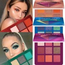 9 цветов, блестящие тени для макияжа, палитра матовых теней для век, палитра Шиммер и блеск, алмазные тени для век, пудра, пигмент, косметика
