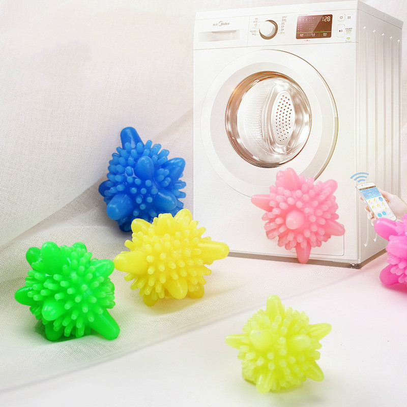 1 PC Anti-winding Laundry Ball Home Washing Machine Starfish Solid Cleaning Ball Super Strong Decontamination Laundry Ball