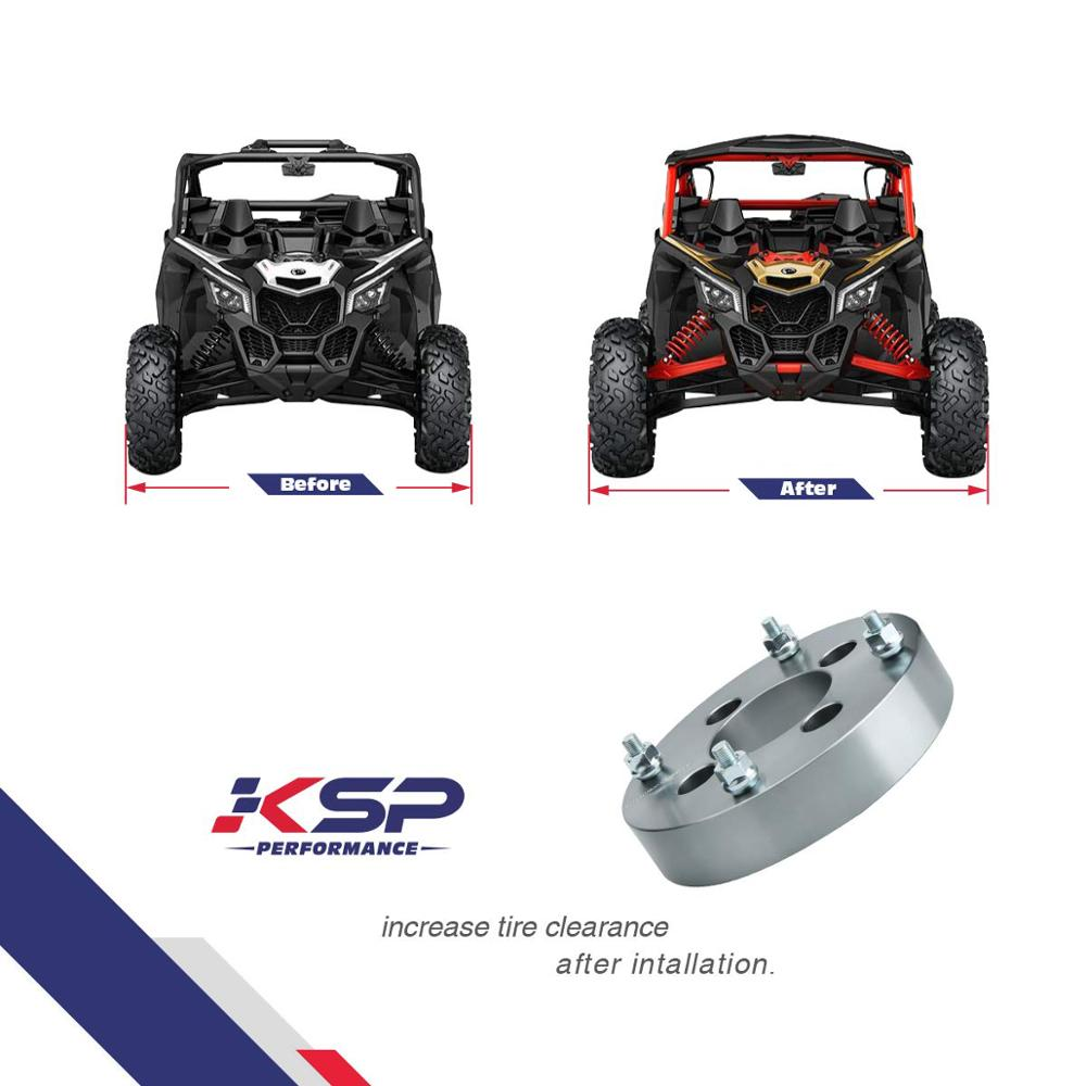 4-2 inch in Polaris RZR XP 900 Aluminum 4x156 Wheel Spacers 800s 570 Ranger
