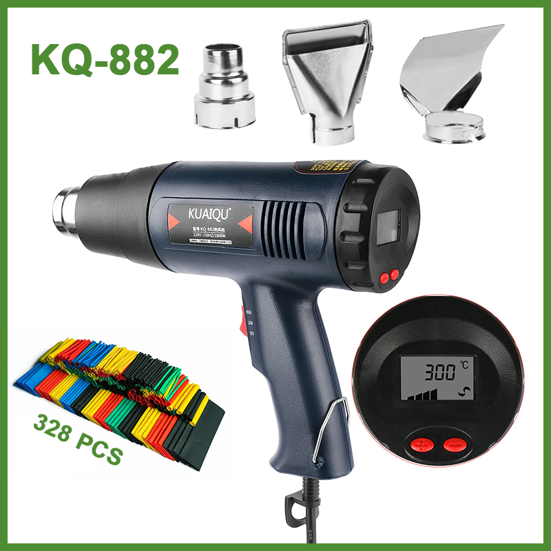 New 1800W 220V Digital LED Electric Hot Air Gun Stepless Adjustable Temperature-controlled Thermal Blower Heat Gun For Building