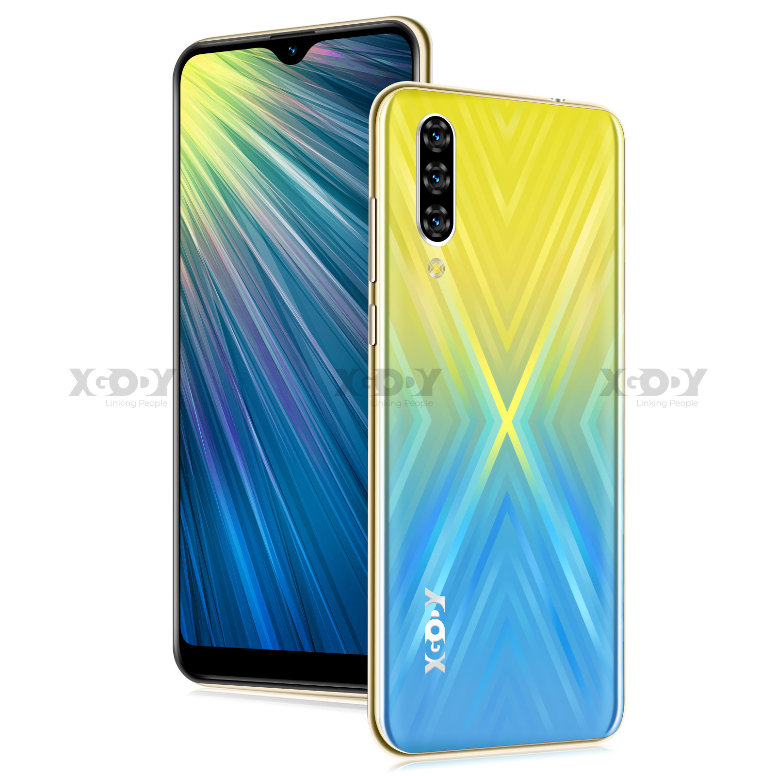 XGODY Note 7 Smartphone Dual Sim Celular 6.26'' Waterdrop Screen Android 9.0 2GB 16GB Quad Core 2800mAh Face ID 3G Mobile Phone