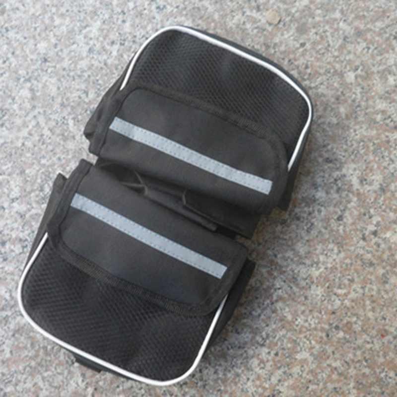 Sacos de bicicleta à prova dwaterproof água mountain road bicicleta rack assento traseiro cauda transportadora tronco duplo pannier sacos